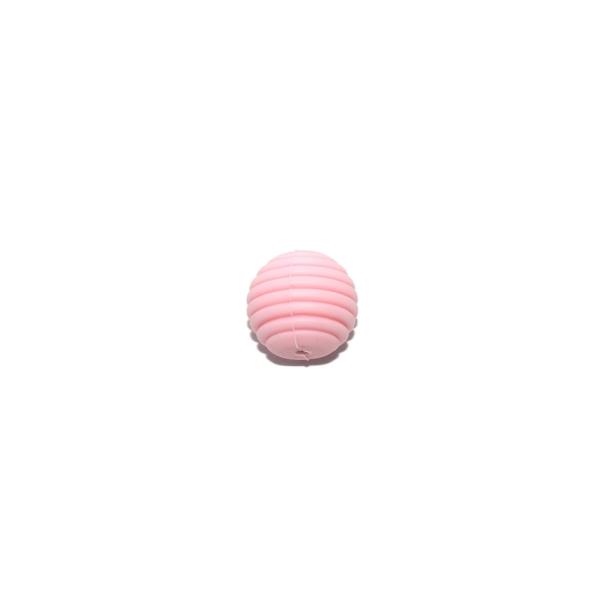 Perle silicone spirale 15 mm rose clair - Photo n°1