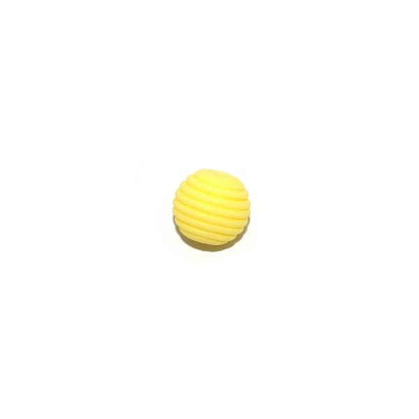 Perle silicone spirale 15 mm jaune - Photo n°1