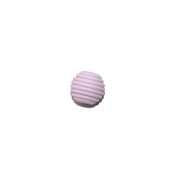 Perle silicone spirale 15 mm violet - Photo n°1