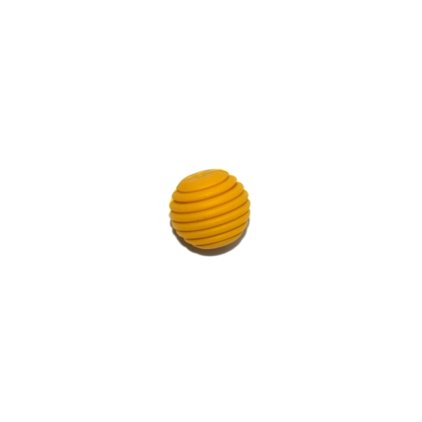 Perle silicone spirale 15 mm jaune moutarde - Photo n°1