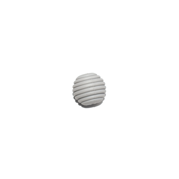 Perle silicone spirale 15 mm gris clair - Photo n°1