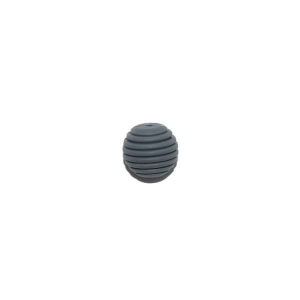 Perle silicone spirale 15 mm gris foncé - Photo n°1