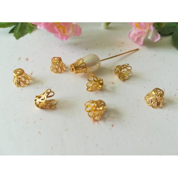 Coupelles cônes 9 x 7 mm doré x 20 - Photo n°1