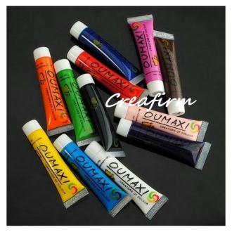 12 Tubes De Peinture Acrylique 12ml