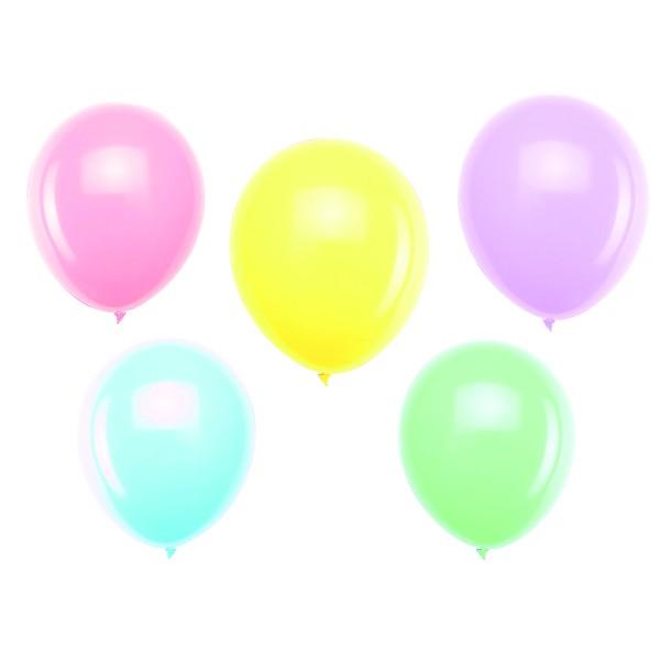 Lot de 10 ballons 30 cm - coloris pastel - Photo n°1