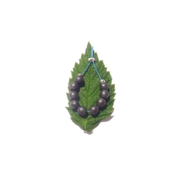 Hématite mate : 9 MINI perles 4 MM de diamètre - Photo n°2