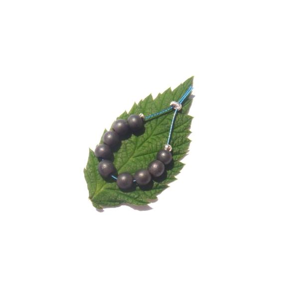 Hématite mate : 9 MINI perles 4 MM de diamètre - Photo n°1
