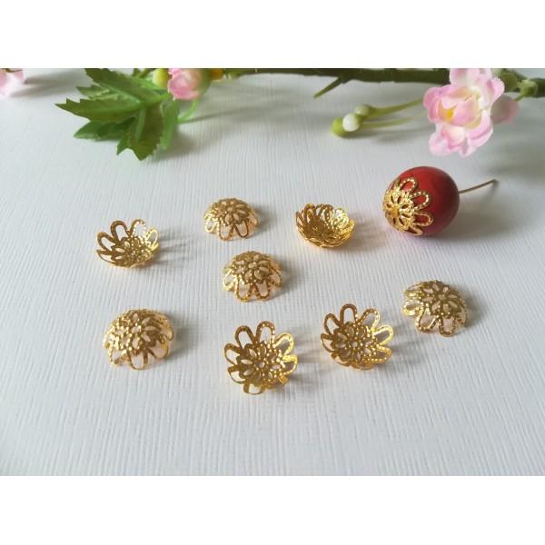 Coupelles filigrane dorées 15 mm x 20 - Photo n°1