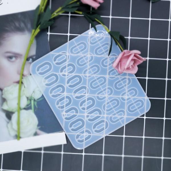 1pc Silicone, Époxy Mold Set De Bracelets Et Pendentifs Ovales Moule en Silicone de Réglage du suppo - Photo n°1