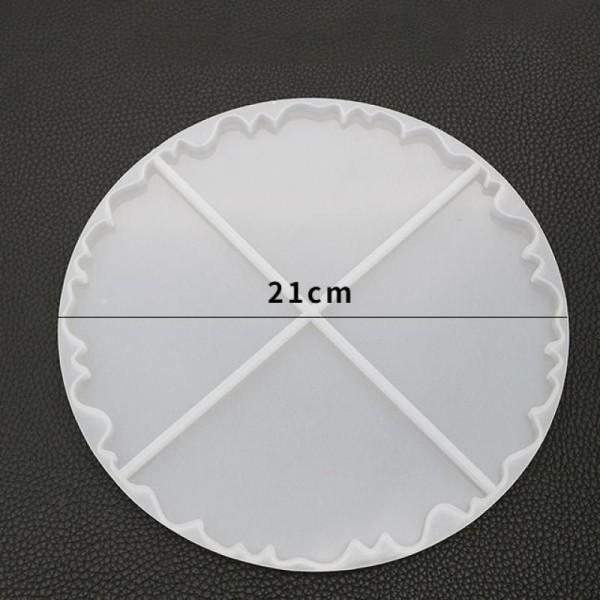 1pc Silicone, Époxy Moule Défini Pour Irréguliers Coaster Moule Rond en Silicone de Moule de Réglage - Photo n°2