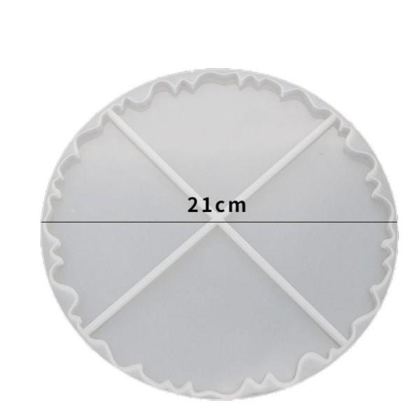 1pc Silicone, Époxy Moule Défini Pour Irréguliers Coaster Moule Rond en Silicone de Moule de Réglage - Photo n°1