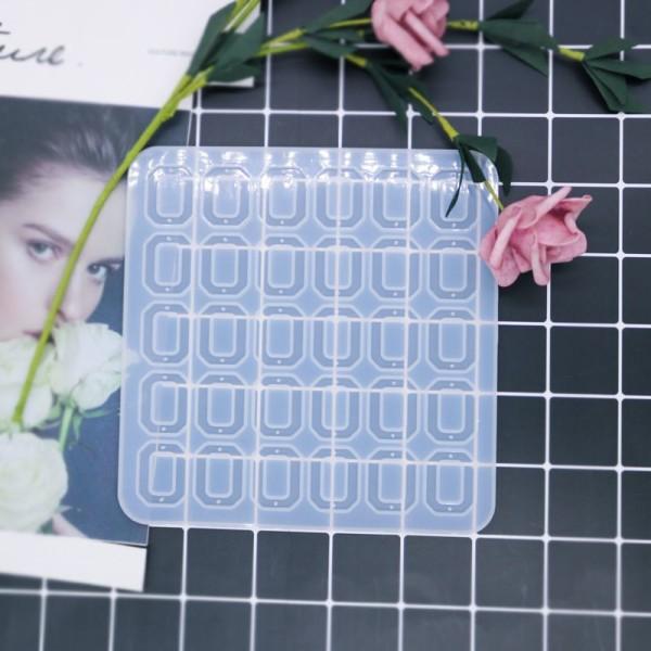 1pc Silicone, Époxy Mold Set De Bracelets Et Pendentifs Octogone Moule en Silicone de Réglage du sup - Photo n°1