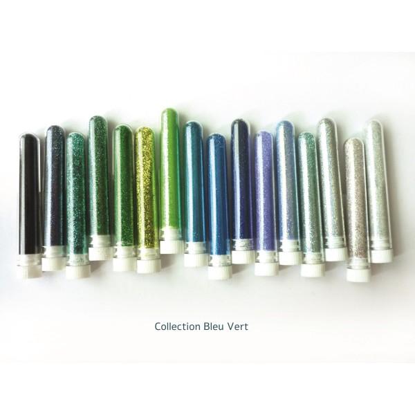 Paillette fine poudre 3 gr coloris bleu pétrole - Photo n°2