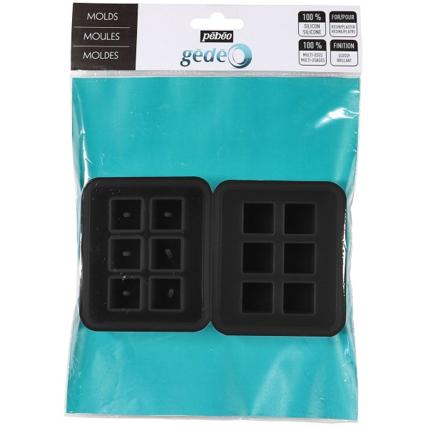 Moules en silicone - Cubes - 2 pcs - Photo n°1