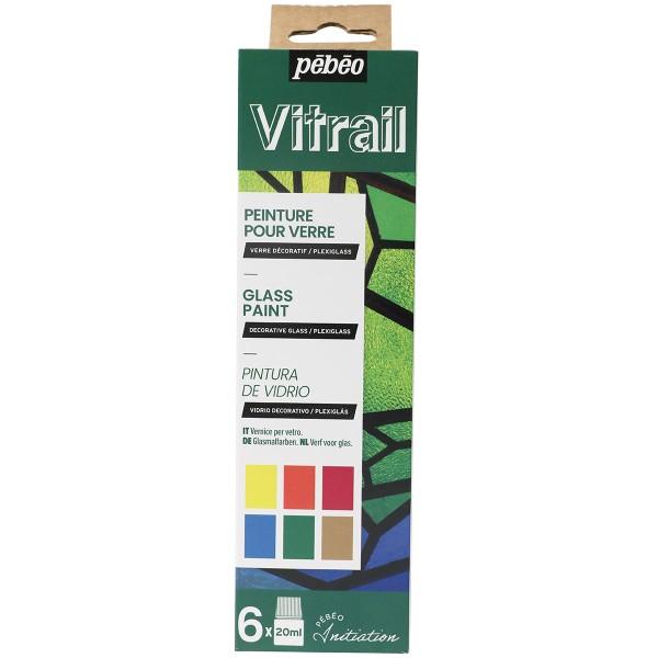 Coffret d'initiation Pébéo - Peinture Vitrail - 6 x 20 ml - Photo n°1