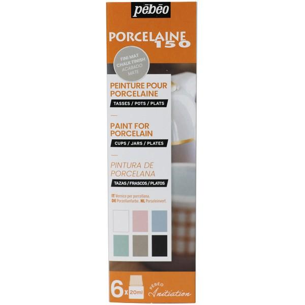 Coffret d'initiation Pébéo - Peinture sur Porcelaine - Tons pastel - 6 x 20 ml - Photo n°1