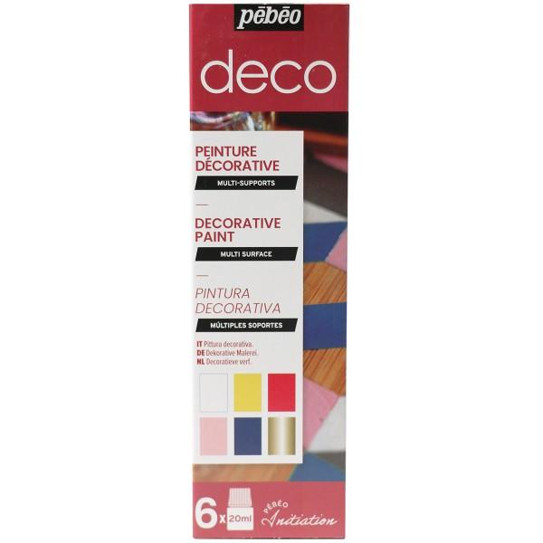 Coffret d'initiation Pébéo - Peinture décorative - 6 x 20 ml - Photo n°1