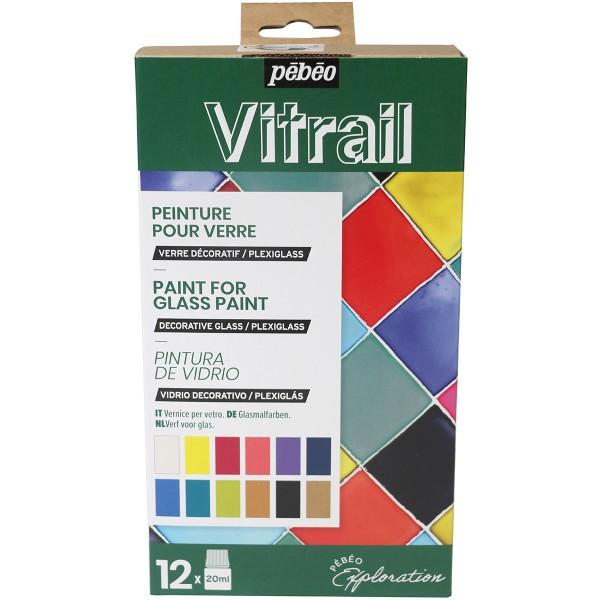 Coffret d'Exploration Pébéo - Peinture Vitrail - 12 x 20 ml - Photo n°1