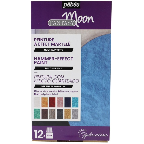 Coffret d'Exploration Pébéo - Peinture Fantasy Moon - 12 x 20 ml - Photo n°1