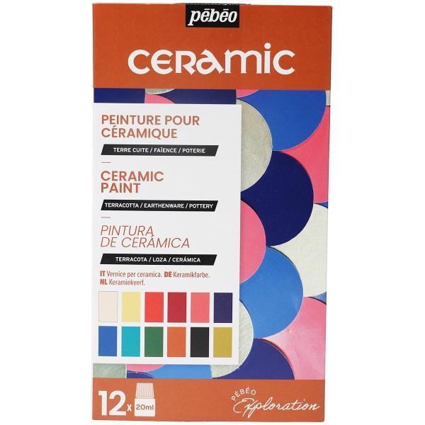 Coffret d'Exploration Pébéo - Peinture Céramic - 12 x 20 ml - Photo n°1