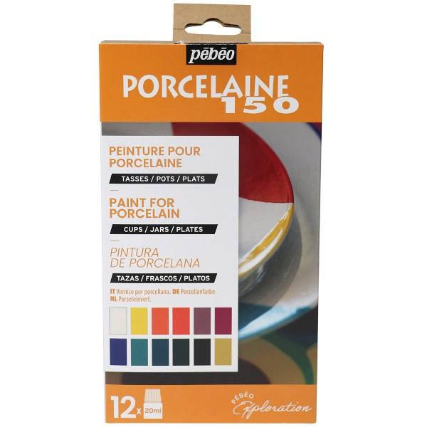 Coffret d'Exploration Pébéo - Peinture sur Porcelaine - N°1 - 12 x 20 ml - Photo n°1