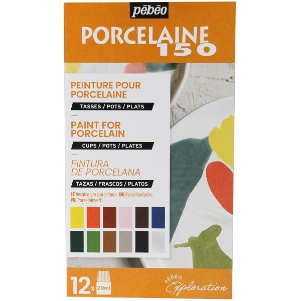 Coffret d'Exploration Pébéo - Peinture sur Porcelaine - N°2 - 12 x 20 ml - Photo n°1