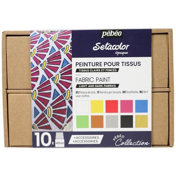 Coffret Collection Pébéo - Peinture sur tissu N°1 - Photo n°1
