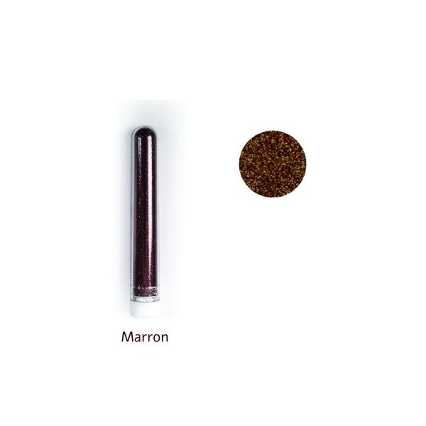 Paillettes fine poudre 3 gr coloris marron - Photo n°1
