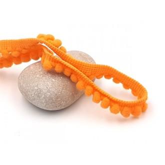 10m Galon Mini Pompons Orange Clair 5mm
