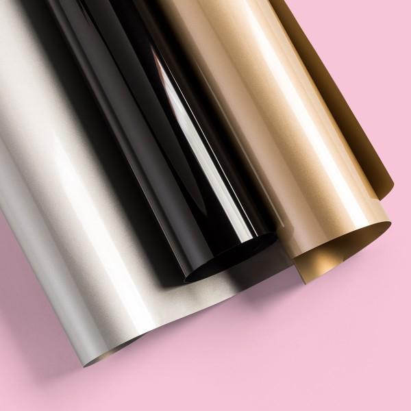 Flex thermocollant EveryDay Cricut Maker - Doré, Argenté et Noir - 30,5 x 30,5 cm - 3 pcs - Photo n°2