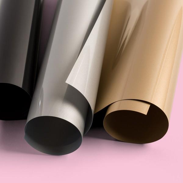 Flex thermocollant EveryDay Cricut Maker - Doré, Argenté et Noir - 30,5 x 30,5 cm - 3 pcs - Photo n°3