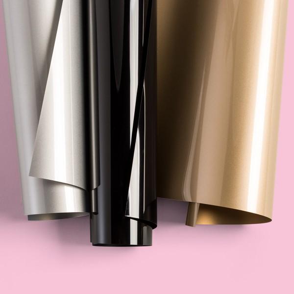 Flex thermocollant EveryDay Cricut Maker - Doré, Argenté et Noir - 30,5 x 30,5 cm - 3 pcs - Photo n°4