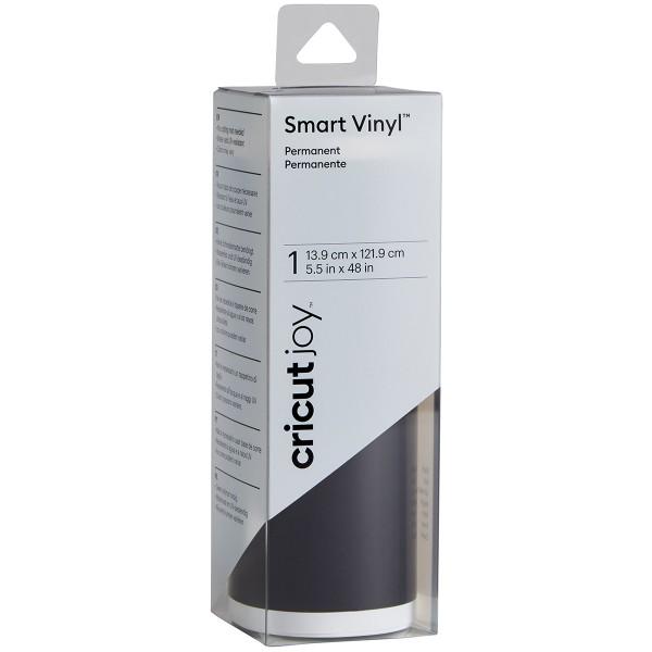 Vinyle Smart adhésif permanent brillant - Noir - 13,9 x 121,9 cm - Photo n°1