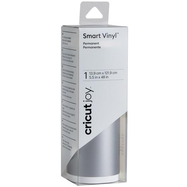 Vinyle Smart adhésif permanent brillant - Argenté - 13,9 x 121,9 cm - Photo n°1