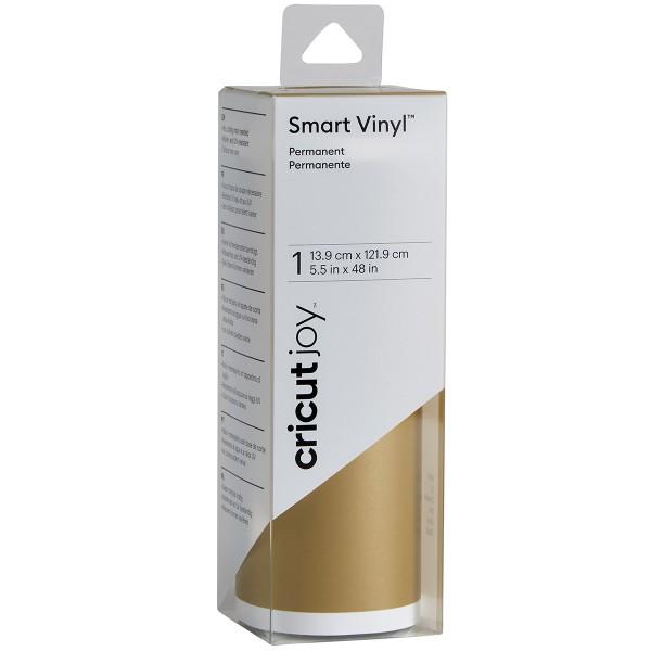 Vinyle Smart adhésif permanent brillant - Doré - 13,9 x 121,9 cm - Photo n°1