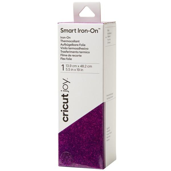 Flex thermocollant Pailleté Smart Iron-On Cricut Joy - Violet - 13,9 x 48,2 cm - Photo n°1