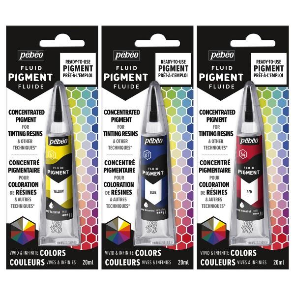 Colorant pour résine - Fluid Pigment Pébéo - 20 ml - Photo n°1