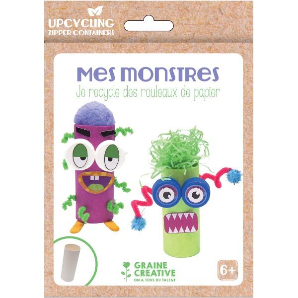 Kit créatif recyclage - Petits monstres - Photo n°1