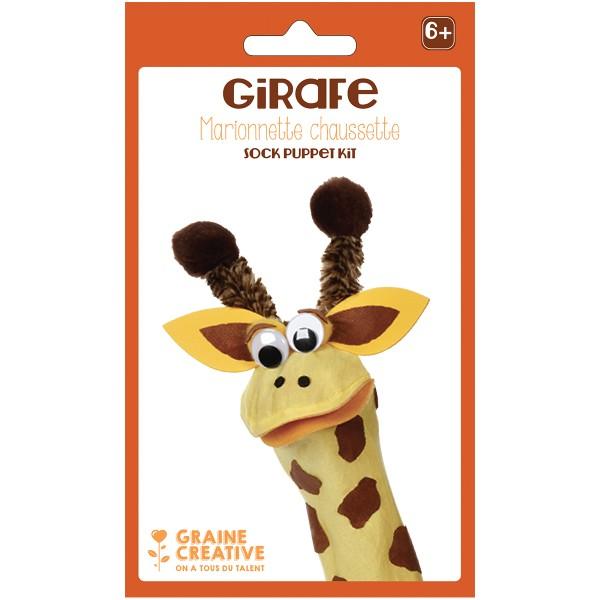 Kit Marionnette chaussette - Girafe - Photo n°1