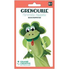 Kit Marionnette chaussette - Grenouille