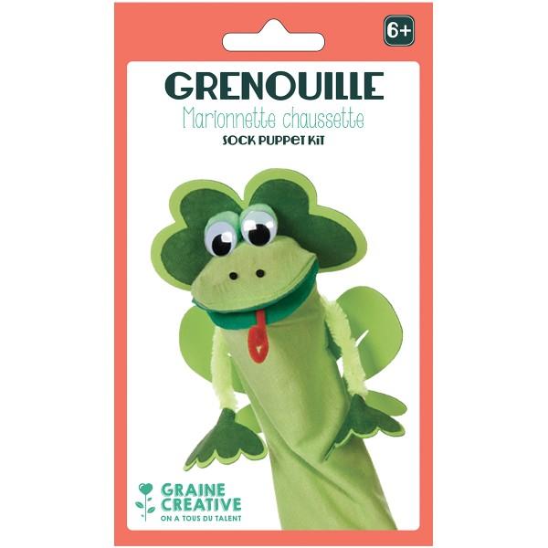 Kit Marionnette chaussette - Grenouille - Photo n°1
