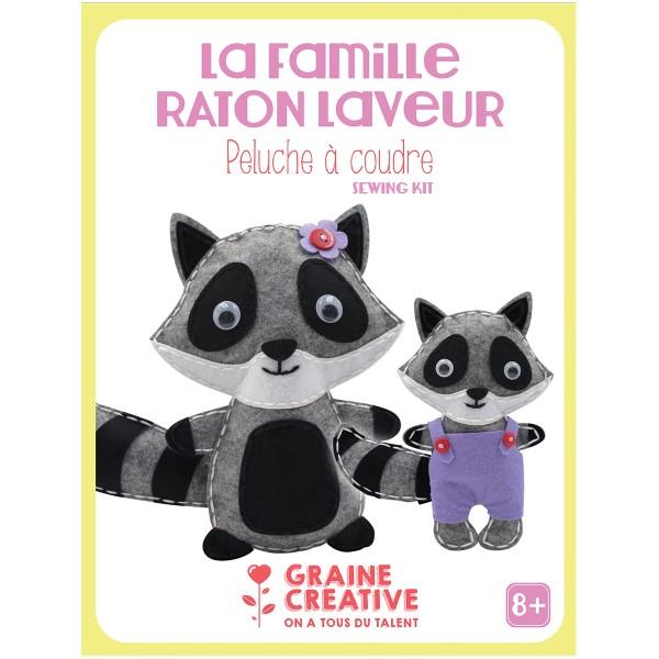 Kit Créatif Peluche à coudre - La famille Raton - Photo n°1
