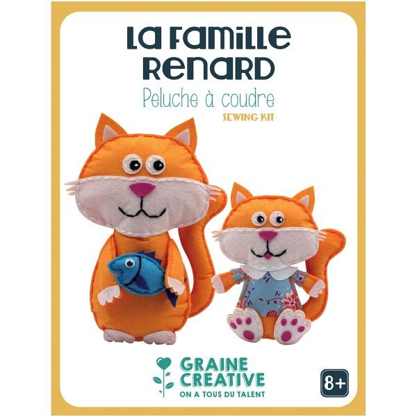 Kit Créatif Peluche à coudre - La famille Renard - Photo n°1