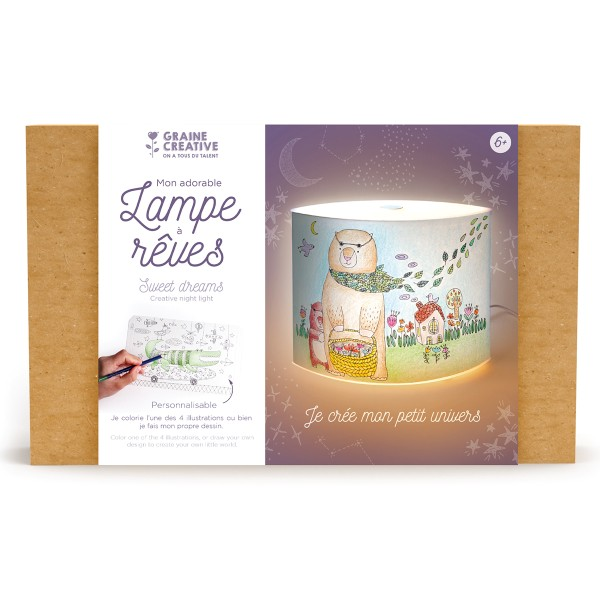 Kit créatif lampe DIY - Mon adorable lampe à rêves - Photo n°1