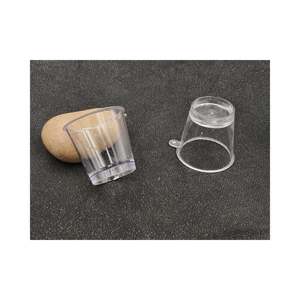 2 Pots Tranparents Miniatures 3.7cm Avec Attache - Photo n°1