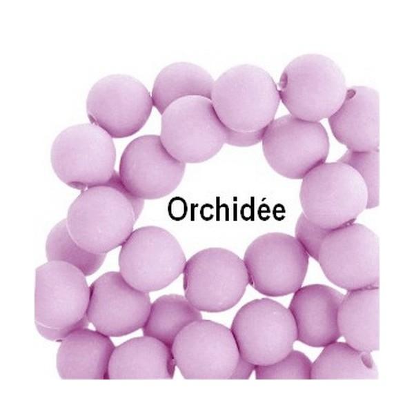 Lot de 200  perles acryliqes 6mm de diametre orchidee - Photo n°1