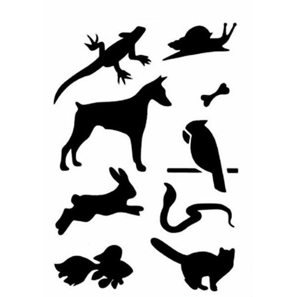 POCHOIR PLASTIQUE 18*12cm : animaux (13) - Photo n°1