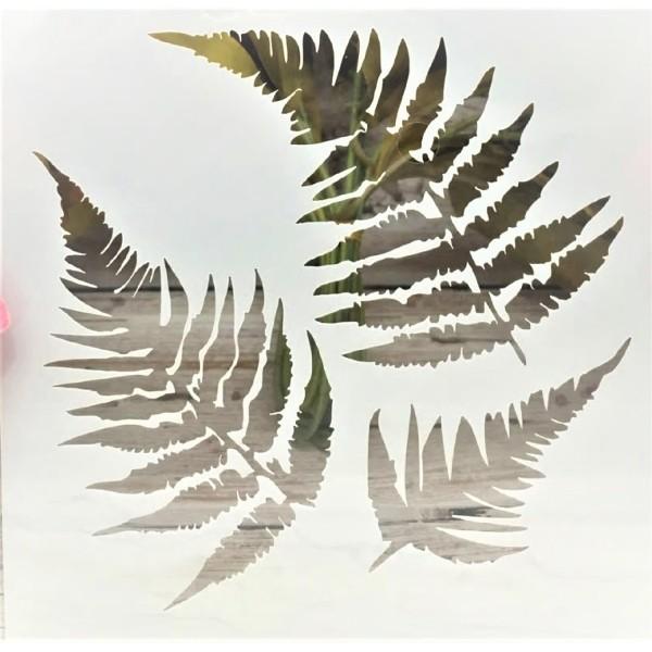 POCHOIR PLASTIQUE 13*13cm : feuilles (05) - Photo n°1