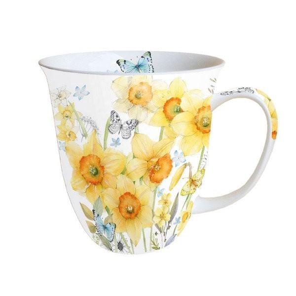 Mug, tasse, porcelaine AMBIENTE 10.5 cm 0.4 l CLASSIC DAFFODILS - Photo n°1