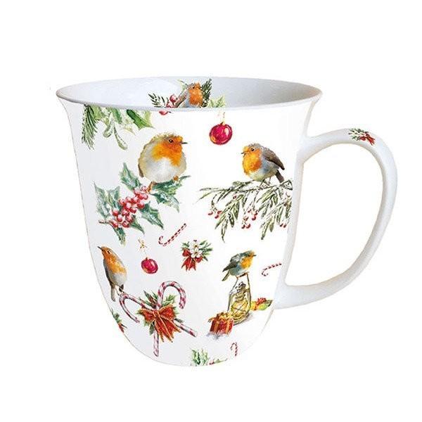 Mug, tasse, porcelaine AMBIENTE 10.5 cm 0.4 l CHRISTMAS ORNEMENTS - Photo n°1